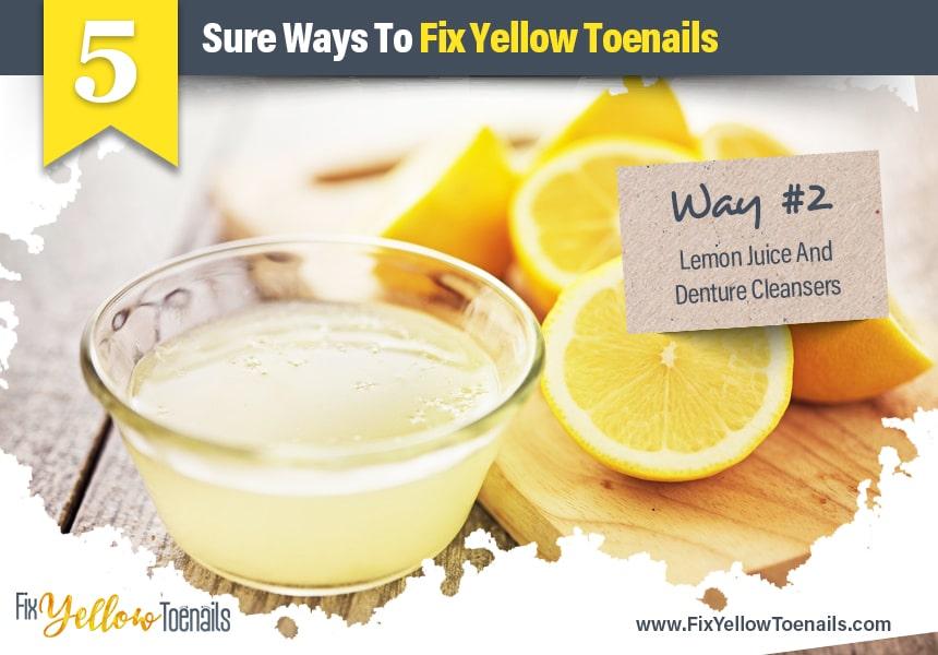 lemon juice for yellow toenails